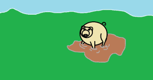 Pujsek in blato - pesmica
